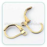 Ganchos pendientes supr- 10 pares Gancho clip cerrado DORADO 16x10mm  C21658
