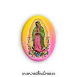 Cabuchón Cristal Religión - Virgen de Guadalupe México multicolor New*