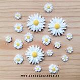 Cabuchón Resina Flor margarita  (10 unidades)