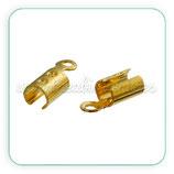 Terminal 8x3 mm redondeado *extra fuerte* de cobre-  DORADO  (10Unid) ACCTER-C75380