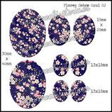 Imagen Flores sobre Azul II
