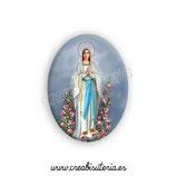 Cabuchón Cristal Religión - Virgen de Lourdes
