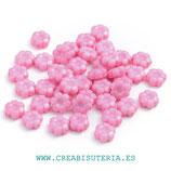 Abalorio acrílico opaco Flor margarita rosa claro 10,5mm P21 (25 unidades)