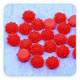 Cabuchón Resina Flor Roja picos 16x8mm (10 unidades) CABOOO-C09199