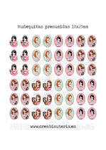Muñequitas presumidas (48 muñecas) 18x25mm