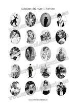 Lámina de 20 Imagenes Clásicos del cineI 30x40mm blanco y negro