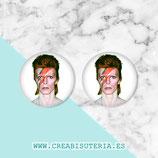 Cabuchón ilustrado - Personajes - David Bowie - 2 unidades