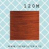 Cordón macramé 1mm Carrete  120metros Calidad suprema color cobre  M08SCobre