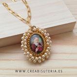 Producto Acabado - San Benito 13x18mm dorado - Perlitas