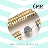 Abalorios  Hematite dorado tubular discos de 6x2mm (200 unidades aprox.) P73F