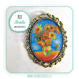 KIT BROCHE VINTAGE ORNAMENTAL DORADO GIRASOLES DE VAN GOGH