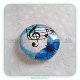 Cabuchón Cristal Music 004 (fondo azul y mariposa)