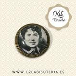 KIT broche bronce viejo Rosalía de castro sepia
