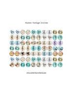 70 Imágenes Música Vintage 14x14mm
