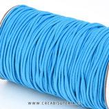 Cordón de goma Azul océano 2mm (15 metros)