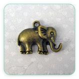Charm elefante suerte mediano gordito bronce viejo CHAOOO-CA00053