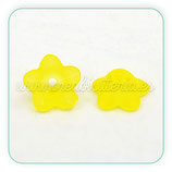 FLORLUCIT 25 -Flores color amarillo  13x7mm (16 Unidades)