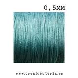 Cordón macramé Gama Deluxe 0,5mm  Color turquesa (5 metros)