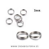 INOX - Anillas de doble vuelta /