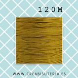 Cordón macramé 1mm Carrete  120metros Calidad suprema color dorado M08SOro