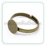 Base anillo bronce antiguo c13212 - 10 unidades