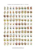100 Imágenes de muñecas de ilustraciones de años 80 I 13x18mm