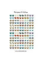 140 Imágenes vintage de mariposas II *Nuevas* 10x10mm