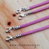 """Producto acabado - Conjunto cordones para mascarilla """"Dúo Mamá & Hija Color rosa-púrpura"""""""
