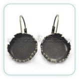 Pendiente camafeo redondo clip ornamento 14  (Un par) ACCBAS-C25399