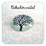Cabuchón cristal Árbol de la Vida turquesa