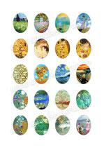 20 Imágenes para camafeos de arte clásico M01  Formato:30x40mm