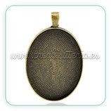 Camafeo bronce antiguo liso hondo bronce viejo 30x40mm CAMBAS-C21649
