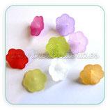 Flores acrícilicas 21x9mm color mates (8 Unidades)