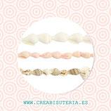 Concha de playa - caracolas naturales minis   (25 unidades de cada color) 75 UNIDADES en total
