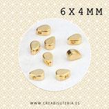 Entrepieza dorada gota mini  6x4mm - C45 -  10 unidades