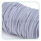 Cordón de goma gris  2mm (15 metros)