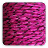 Cordón de Nylon de Escalada Redondo 3mm fucsia y pizca negro (3 metros)