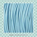 Cordón plastificado Azul bebé 1,5mm (4 unidades)