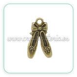 Charm Zapatos bailarina bronce antiguo CHAOOO-c14441