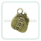 Charm carterita de mano bronce viejo CHAOOO-C29576 (3 unidades)