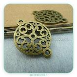 Conector Espiritual 2 - 021 -  mandala ornamentos 18x24  bronce-A2645 (10 unidades)
