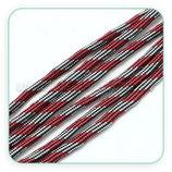 Cordón de Nylon de Escalada  4mm Modelo 001 - Granate y gris (3 Metros)
