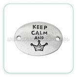 "Conector mensaje ""Keep Calm And""  plata vieja CONOOO-C43961"