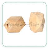 Madera abalorio facetado irregular natural grande (4 unidades)  MAD-C26146