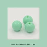 Abalorio plástico de alta calidad colores sólidos opacos redondas 6mm agujero 1,6mm (98/100 unidades aprox.)