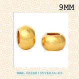Entrepieza dorada - bola 9mm agujero 4,8mm C313 (25 unidades)