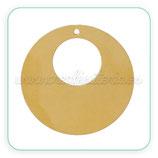 CONECTOR PENDIENTE B - 009 -  Aro Plano flamenca dorado (ANTIALERGICO)  C51618  (2 unidades)