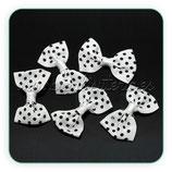Adorno 20 lazos blancos topos negros Ad-c22331
