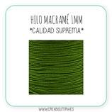 Cordón macramé 1mm  Calidad Suprema  Color Verde Oliva  Claro(5 metros)
