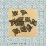 CONECTOR/A/ 14 - Abanico mini bronce viejo (20 unidades)